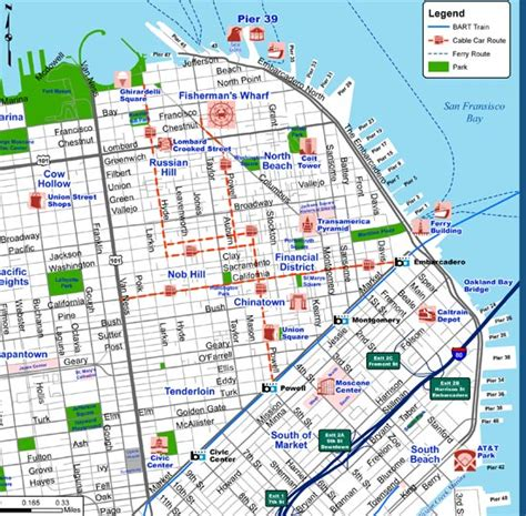 san francisco map attractions best tourist map of san francisco