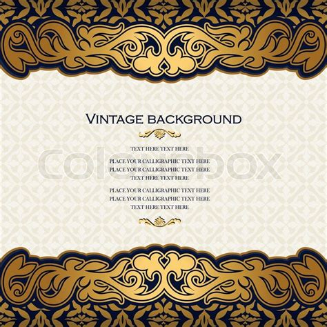 royal invitation template vintage floral background antique style invitation card