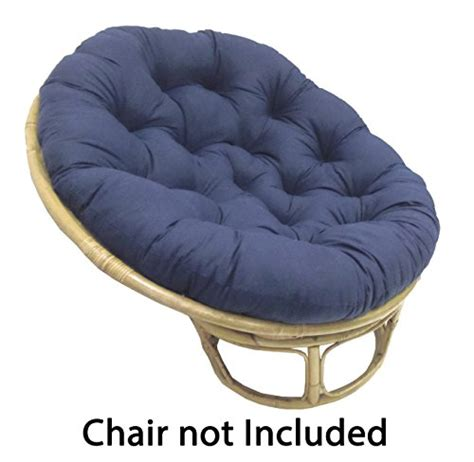 Cushions Sinking by Papasan Navy Overstuffed Chair Cushion Sink Into Our
