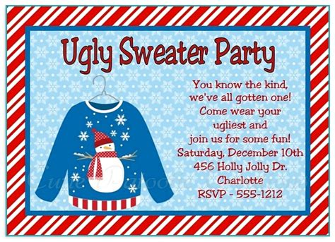 invitation wording ugly sweater christmas party images