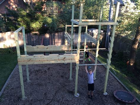 american ninja warrior backyard back yard ninja course