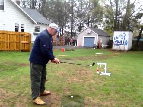 backyard golf drills one legged golf swing doovi