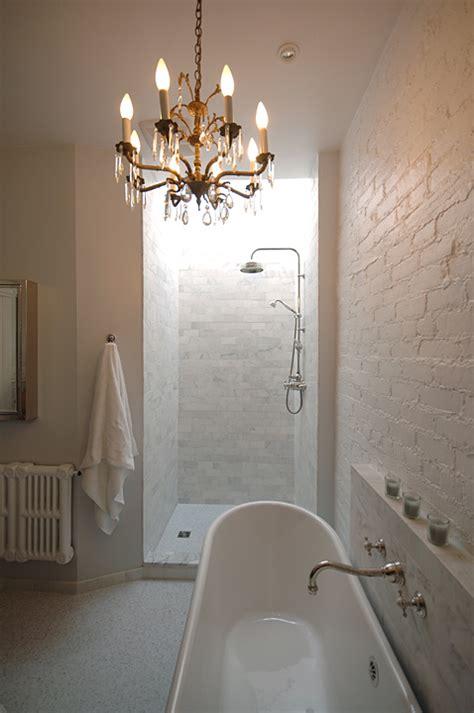 brick wall tiles bathroom brick wall in bathroom transitional bathroom lake jane