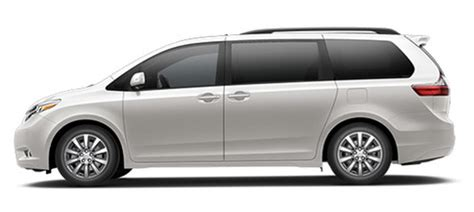 2017 toyota sienna exterior colors and features
