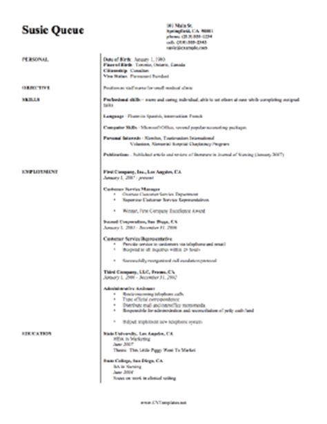 curriculum vitae for nurses nursing cv template