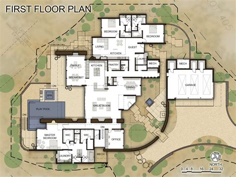 Floor Plans Modern gallery of desert wing kendle design 20