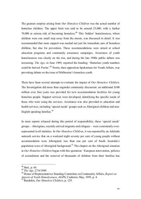 thesis statement on homelessness the power of perception homelessness thesis pdf