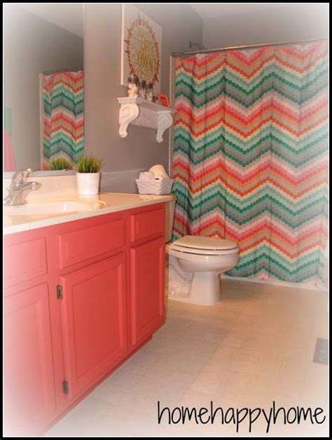 gray and coral bathroom home happy home gray and coral kid teen bathroom decor