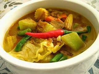 resep  membuat sayur lodeh terong jawa labu siam