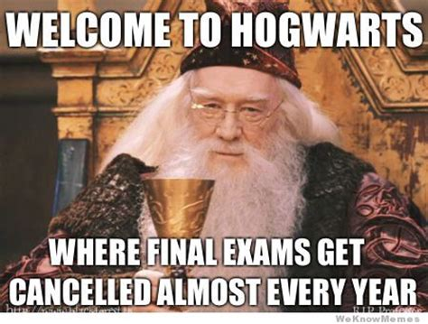 Hogwarts Meme - harry potter final exam meme