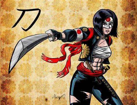 katana dc comics colored version drawing of dc comics katana from the