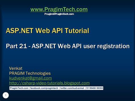 tutorial web net sql server net and c video tutorial asp net web api