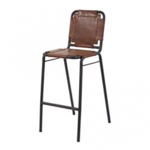 Metal And Leather Bar Stools Industrial Leather Metal Bar Stool
