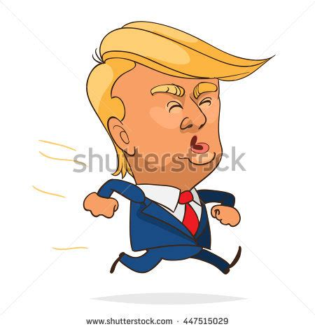 Donald Hairclip character portrait donald on white stock vector
