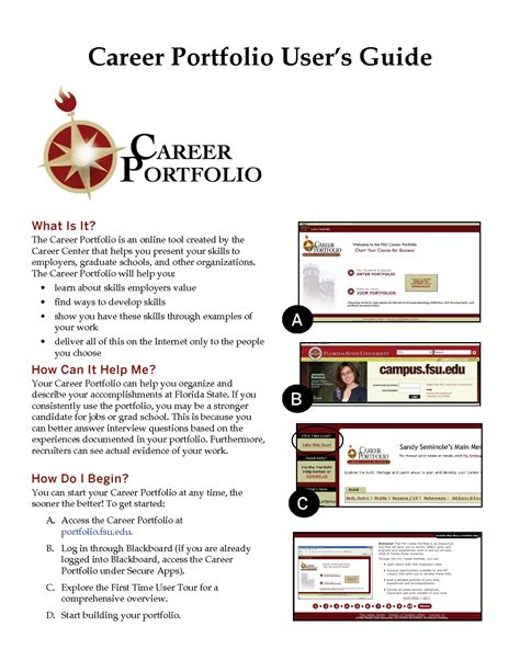 best photos of career portfolio template word creative
