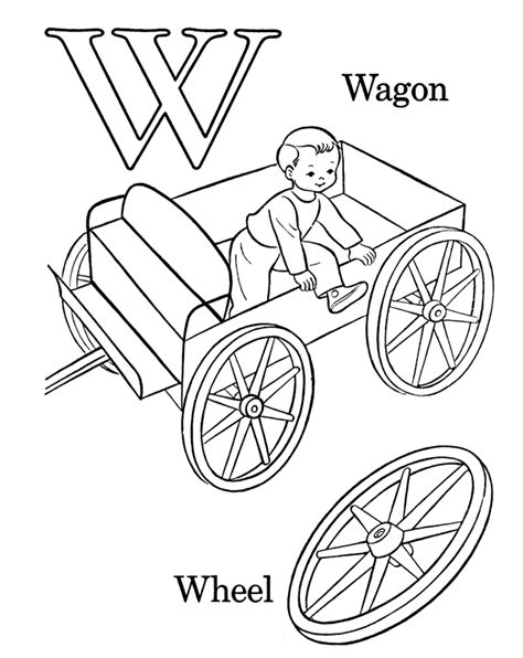 wagon coloring page coloring home