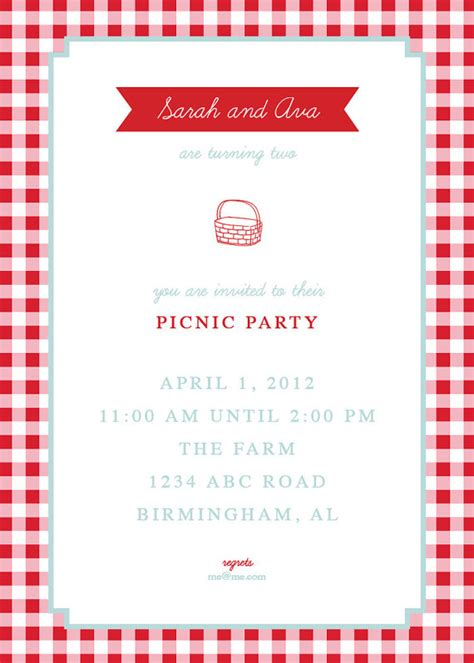 Free Picnic Invitation Template Songwol 469b4e403f96 Free Picnic Invitation Template