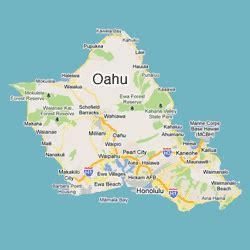 image gallery island of oahu map