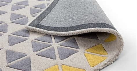 Grey And Mustard Rug mustard yellow grey rug large wool geometric 160 x 230cm