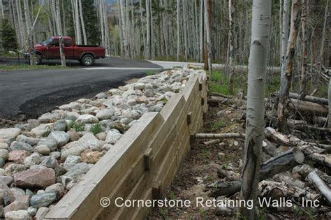 Landscape Timbers For Driveway Residential Landscape Retaining Wall Construction And