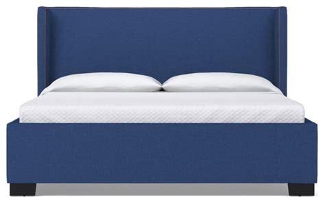 blue upholstered bed everett upholstered bed royal blue eastern king