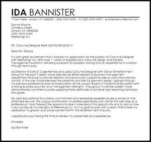 Ui Architect Cover Letter by Costume Designer Cover Letter Sle Livecareer