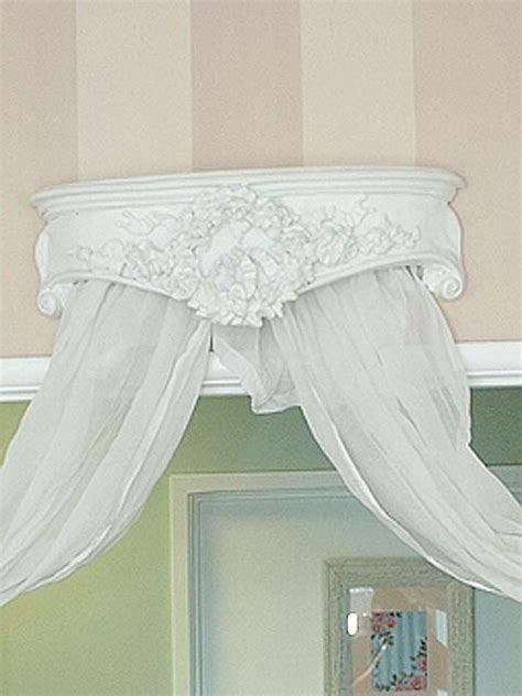 shabby chic bed crown shabby cottage chic bed crown plaque cornice wow ebay