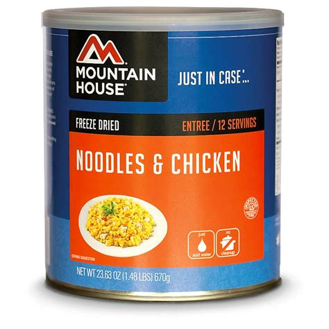 mountain house freeze dried food mountain house emergency food freeze dried noodles and chicken 149142 survival food