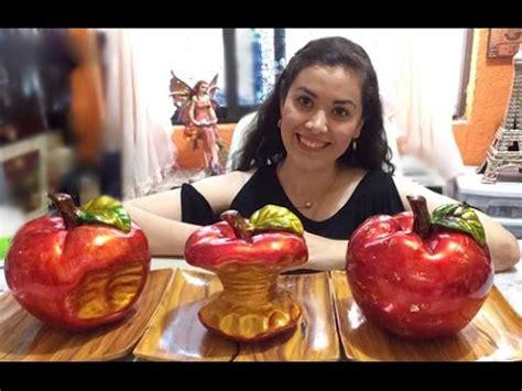 pinta ceramica centro de mesa de manzanas tecnica de