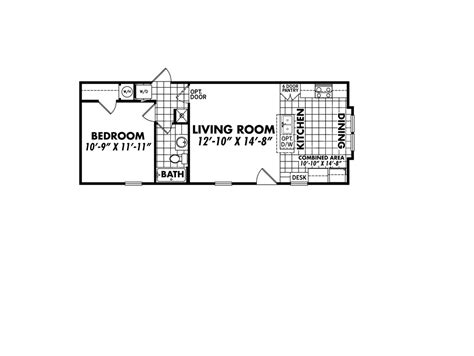 1 bedroom single wide mobile home floor plans