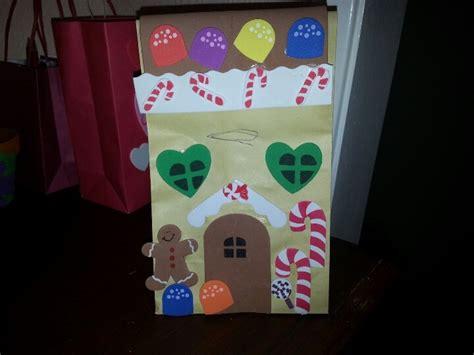 paper bag gingerbread house craft gingerbread paper bag house let s make it