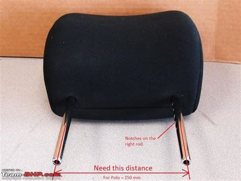 Car Headrest Types by Vw Polo 2010 2013 Rear Restraint Replacement