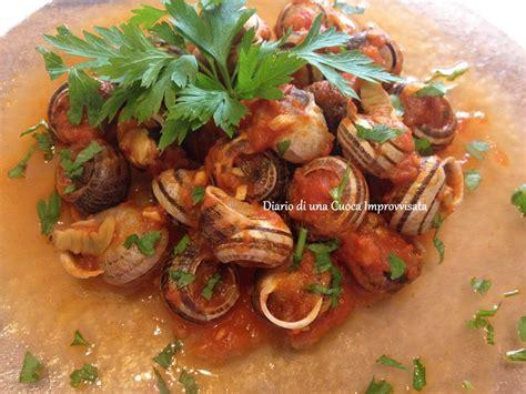 cucinare le lumache al sugo lumache al sugo piccante