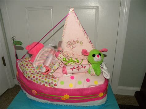 left side of boat name left side i made this diaper boat for a baby shower the