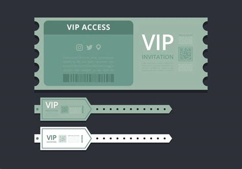Vip Id Card Template by Vip Pass Id Card Or Ticket Template Vip Pass For Event