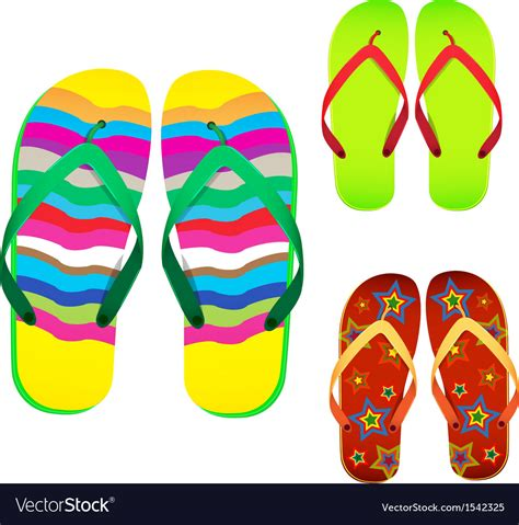 colorful flip flops colorful flip flop royalty free vector image vectorstock