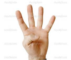 4 fingers clipart clipart suggest