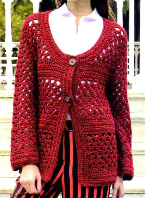 Artesanales En Crochet Saco Tejido En Crochet Con Un Bonito Detalle   tejidos artesanales en crochet saco artesanal tejido en