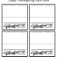 Thanksgiving Seating Card Template by Happy Thanksgiving Place Cards