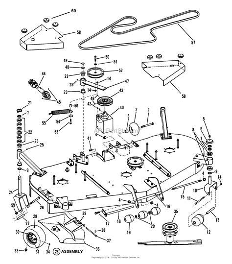 snapper parts diagram snapper pro 7084343 zf2500kh 25hp kohler series 0 parts