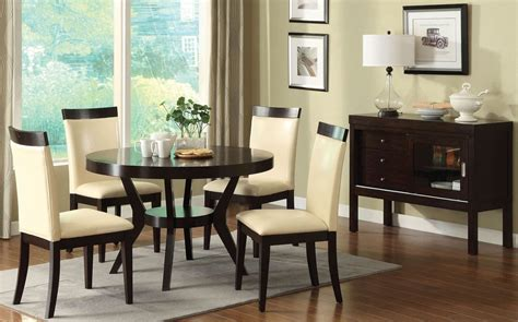 espresso dining room furniture downtown i espresso pedestal dining room set from