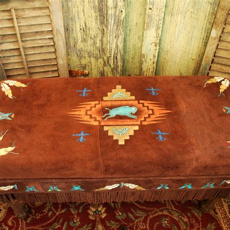 american made home decor buffalo spirit padded bench american made art