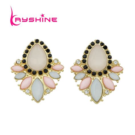 flower design earrings kayshine fashion flower design stud earrings colorful