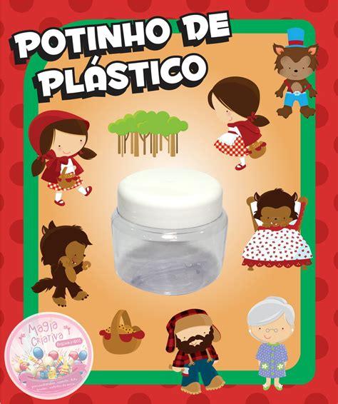 Plastik Segel 4 Cm By Nomi Mino potinho de pl 225 stico chapeuzinho ver mini no elo7 magia