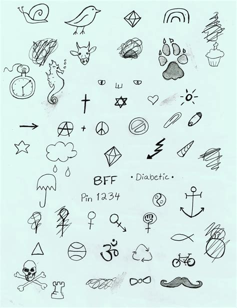 stick n poke tattoo ideas