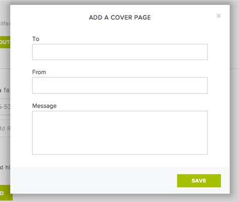 faxing cover pages help center