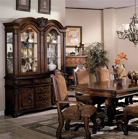 hutch cabinets dining room neo renaissance traditional formal dining room china