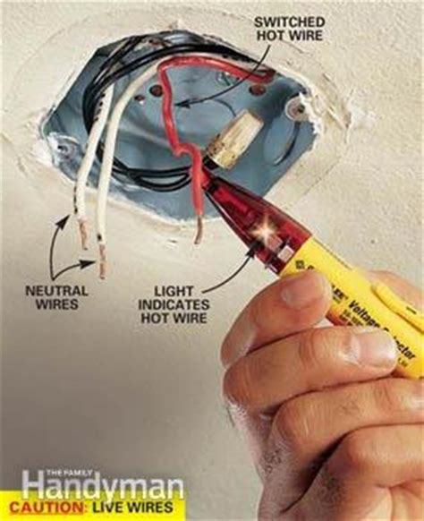 How Do I Wire A Light Fixture How To Hang A Ceiling Light Fixture Family Handyman