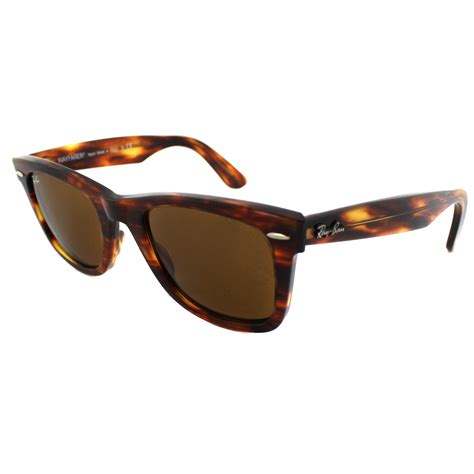 ban wayfarer light ban sunglasses wayfarer 2140 954 light tortoise brown