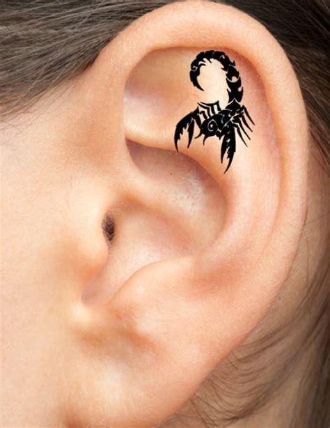 scorpion tattoo behind ear 31 unique ear tattoos design and ideas